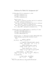 Math 311 Assignment 4