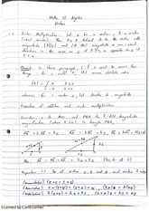 Algebra Scalar Multiplication Lecture Notes