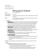 persuasive speech outlines for college students