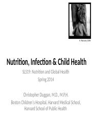 5 - SLS19_Child Health and Infection 2014 - Part 1 - for website.ppt