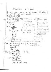 MATH 11 Fall 2010 Square Root Functions Homework Solutions