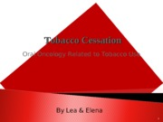 Tobacco Cessation Power point