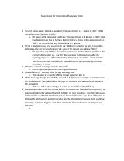 Module 5 International Monetary Order homework