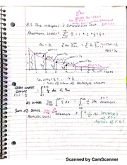 Math 151B Series And P-series Tests Notes