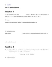 Stat 5131, Fall 1997 (Geyer) Final Exam Solutions