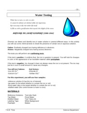 Water Testing Revision