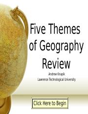 5themes of geography