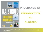 F2 Introduction to algebra