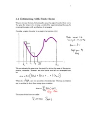5.1 Section Notes_Estimating(Finite Sums)