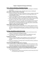 MGMT 496 Chapter 4 Outline