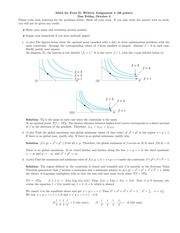Math for Econ II Homeowkr 4 Solutions