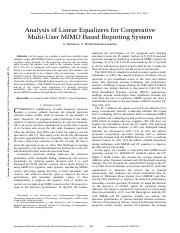 Analysis-of-Linear-Equalizers-for-Cooperative-Multi-User-MIMO-Based-Reporting-System