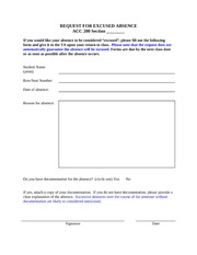 Excused Absence Request Form