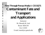 CE6271_Chap_10+Contaminant+Transport