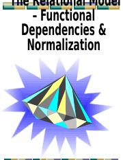 Relational Model - Functional Dependencies & Normalization.pptx