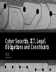 Cyber Security, ICT, Legal Obligations and.pptx