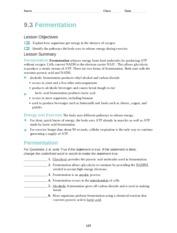 9.1_Worksheet - Name Class Date 9.1 Cellular Respiration ...