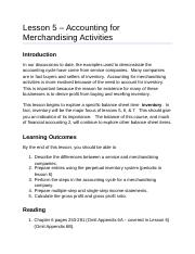 ACC2201 Lesson 5 Accounting for Merchandising Activities AODA.docx