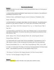 mla practice worksheet answer key