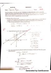 Math for Decision Making with Tech Midterm 3 Graded
