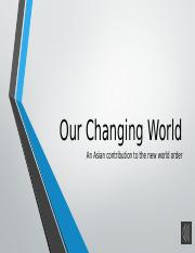 P1 Introducing our changing world