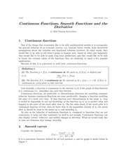 Chapter 4: Continuous Functions and Smooth Functions