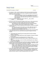 Gathering to Ohio Study Guide