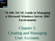 Windows Server 2003 Environment Chapter 03