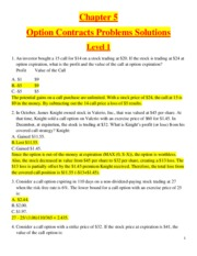 Chapter 5 - Option Contracts  - Problems Solutions