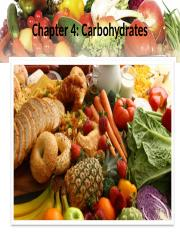 Week 4 & 5 (X) - Carbohydrates