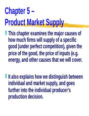 ECN 203 (5), Product Market Supply.ppt