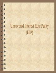 Uncovered interest rate parity(1).ppt