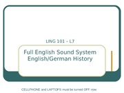 Lecture7 English Sound System, EnglishGerman History