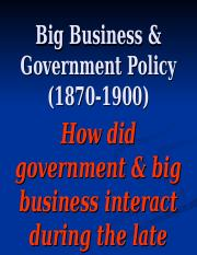 Big Business  Government Policy.ppt