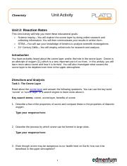 reaction rates unti activity