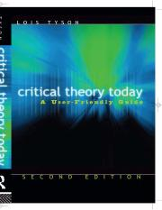 Critical Theory Today A User-Friendly Guide (1)