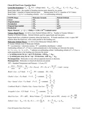 Chem 6B_W12 - Final Exam Equation Sheet