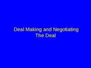 deal and negotiation ppt