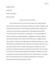 final in his essay on the importance of reading dana gioia  7 pages essay english 103