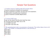 Sample Test Question econ slideshows