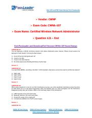 2018 New CWNP CWNA-107 Dumps with PDF and VCE (Question 121-End).pdf