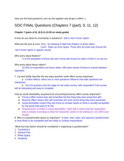 Soc 300 Final Exam Learning Objectives Filled Out Call Winter 2014