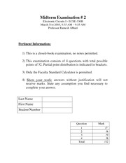 ECSE 330 2005 Midterm 2 Solutions