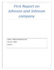 First Report on Johnson and Johnson company.docx