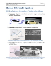 Chapter 3 Bernoulli Equation