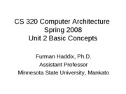 CS 320 Unit 2 Basic Concepts