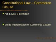 Commerce Clause - Power Point