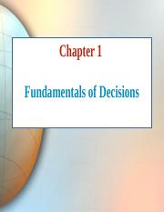 Chapter 1 Fundamentals of decisions.ppt