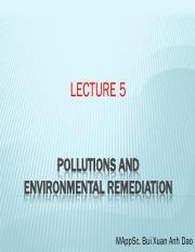 Lecture 5 Pollution