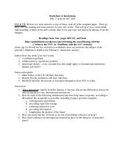 POL 3 worksheet 4 -- Institutions